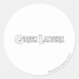 Green Lantern Logo 10 Classic Round Sticker