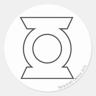 Green Lantern Logo 16 Classic Round Sticker
