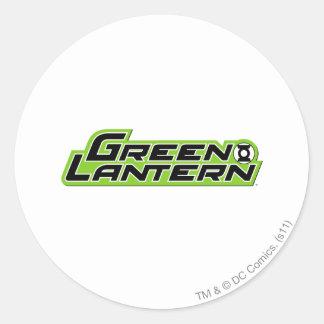 Green Lantern Logo 2 Classic Round Sticker
