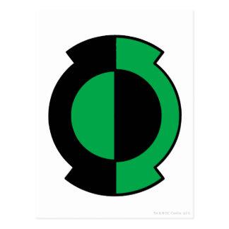 Green Lantern Logo Flipped Postcard