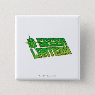 Green Lantern Logo - Slanted 15 Cm Square Badge