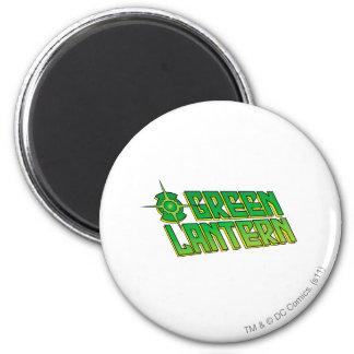 Green Lantern Logo - Slanted 6 Cm Round Magnet