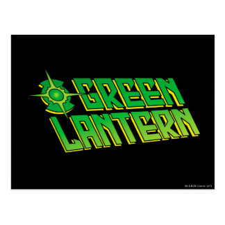 Green Lantern Logo - Slanted Postcard