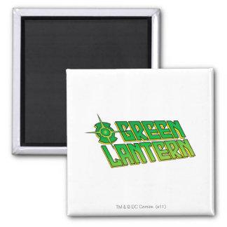 Green Lantern Logo - Slanted Square Magnet