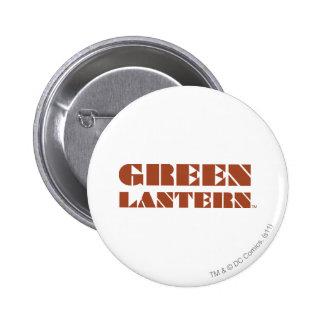 Green Lantern Logo - Tan 6 Cm Round Badge