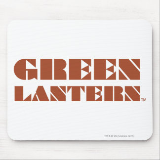 Green Lantern Logo - Tan Mouse Mat