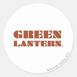 Green Lantern Logo - Tan Round Sticker