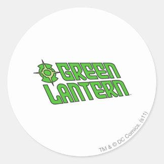 Green Lantern Logo Tilted Classic Round Sticker