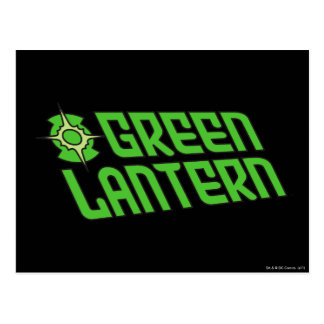 Green Lantern Logo Tilted Postcard