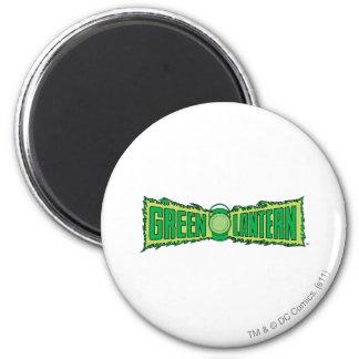 Green Lantern Logo with Lantern 6 Cm Round Magnet