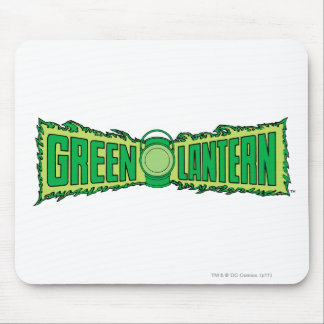 Green Lantern Logo with Lantern Mouse Pad