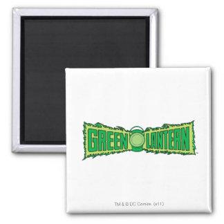 Green Lantern Logo with Lantern Square Magnet