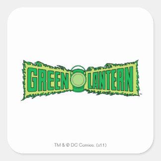 Green Lantern Logo with Lantern Square Sticker