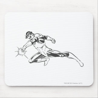 Green Lantern Lunges Down Mouse Mat