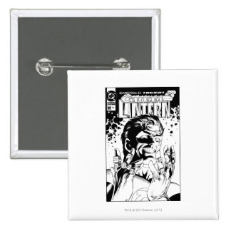 Green Lantern  - Many Rings, Black and White 15 Cm Square Badge