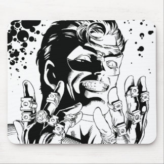 Green Lantern  - Many Rings, Black and White Mouse Pad