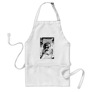 Green Lantern  - Many Rings, Black and White Standard Apron