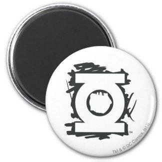 Green Lantern Marker Symbol 6 Cm Round Magnet