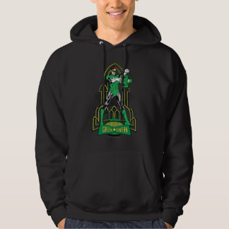 Green Lantern on decorative background Hoodie