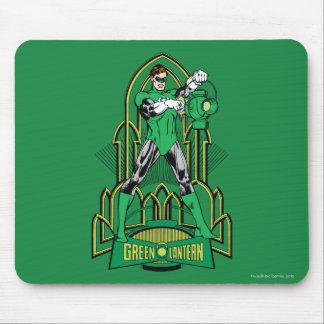 Green Lantern on decorative background Mouse Mat