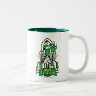 Green Lantern on decorative background Coffee Mug