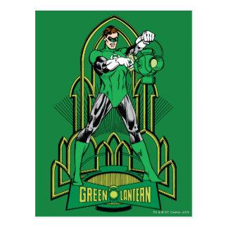Green Lantern on decorative background Postcard