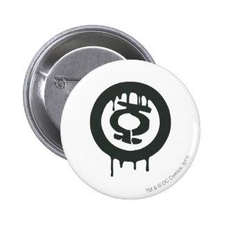 Green Lantern Paint Symbol 6 Cm Round Badge