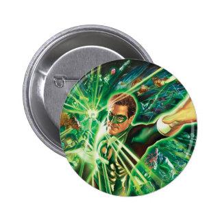 Green Lantern Painting 6 Cm Round Badge