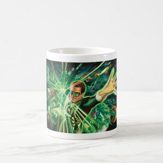 Green Lantern Painting Coffee Mug