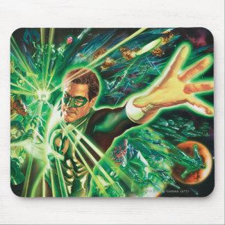 Green Lantern Painting Mouse Mat