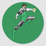 Green Lantern Pointing Ring Round Stickers