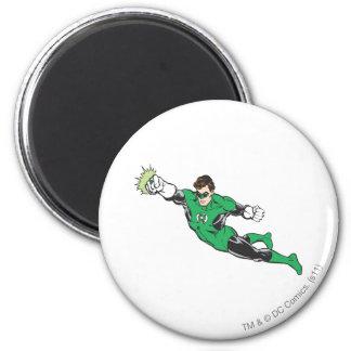 Green Lantern Punches 6 Cm Round Magnet