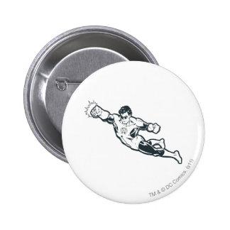 Green Lantern Punches BW 6 Cm Round Badge
