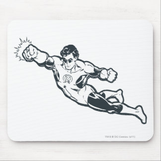 Green Lantern Punches BW Mouse Mat