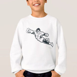 Green Lantern Punches BW Sweatshirt