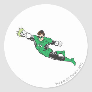 Green Lantern Punches Classic Round Sticker