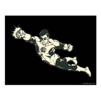 Green Lantern Punches Grunge Postcard