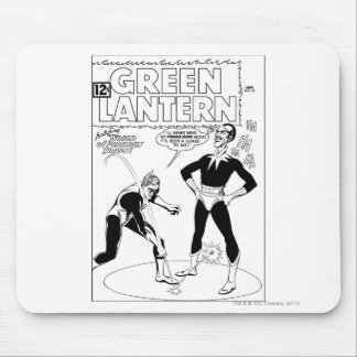 Green Lantern Removes Ring, Black and White Mouse Mat
