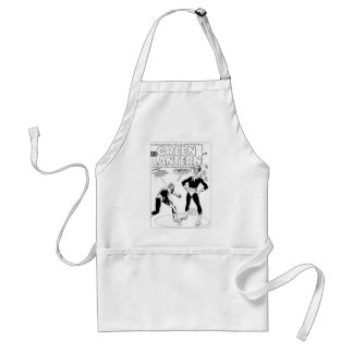 Green Lantern Removes Ring, Black and White Standard Apron