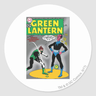 Green Lantern Removes Ring Round Sticker