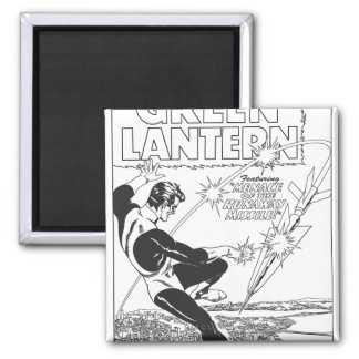 Green Lantern - Runaway Missile, Black and White Magnet
