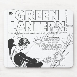 Green Lantern - Runaway Missile, Black and White Mouse Mat