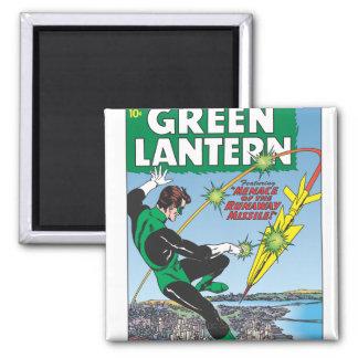 Green Lantern - Runaway Missile Square Magnet