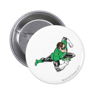 Green Lantern Runs 6 Cm Round Badge