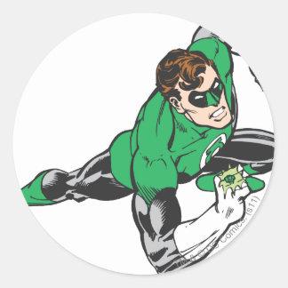 Green Lantern Runs Classic Round Sticker
