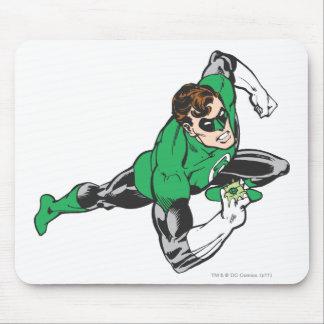 Green Lantern Runs Mouse Mat