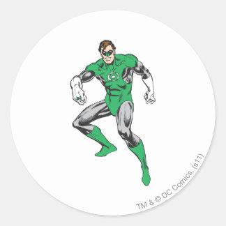 Green Lantern Squats Classic Round Sticker