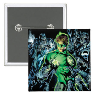 Green Lantern Surrounded - Color 15 Cm Square Badge