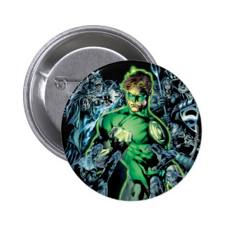Green Lantern Surrounded - Color 6 Cm Round Badge