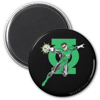 Green Lantern & Symbol 6 Cm Round Magnet
